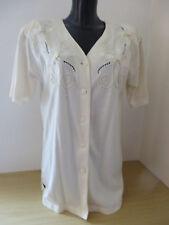 CIN CIN ° chice BLUSE Gr. 40 cremeweiß Kurzarm Damen Mode Kleidung Shirt Jacke