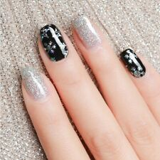 Christmas Silver Snowflake Star Not Fade Stain Foil Transfer Nail Art Sticker