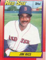 Jim Rice 1990 Topps #785 Boston Red Sox baseball card HOF
