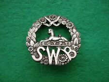 More details for original  wwi south wales borderers hallmarked silver officers badge