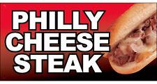 "12x6"" Food Truck Store Sign Sandwich DECAL STICKER - PHILLY CHEESE STEAK"