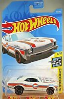2019 Hot Wheels #67 Gulf Speed Graphics '68 CHEVY NOVA Gulf Tampo White Variant