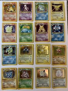Pokemon cards complete Base set Mint/Near Mint 102/102 Inc Charizard Blastoise