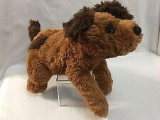 "DAKIN 13"" Plush DOG  PUPPY Laying Spot Two Tone Brown Animal"