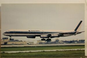 Florida FL Miami International Airport Eastern Airlines Douglas DC-8 Postcard PC