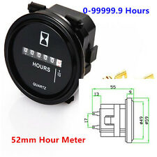 Car Engine Mechanical Counter Timer Hourmeters Car ATV Truck Tractor Gauge Meter