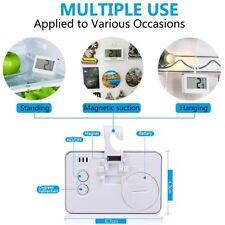 Frigorifero Congelatore LCD Mini termometro impermeabile da Appendere Gancio Magnete titolare UK