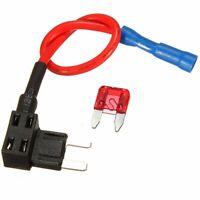 12-24V Circuit Mini Blade Fuse Splice Holder ATM APM Piggy-back Fuses Tap 10A