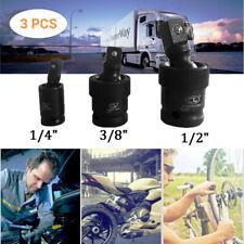 "3pcs 1/2"" 3/8"" 1/4 Inch Drive Swivel Universal Joint Air Impact Socket Set"