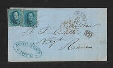 BELGIUM TOURNAI TO FRANCE COVER 1864