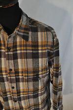 Vintage Summa Comprobar Camisa De Franela Gris Talla Mediana Western Grunge