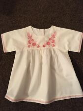 Girls white/pink dress age 2-3 years by M&S