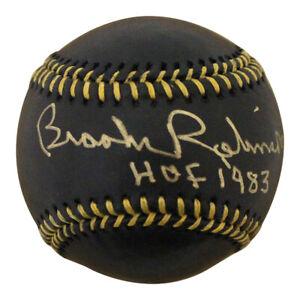 Brooks Robinson Autographed Baltimore Orioles OML Black Baseball HOF 25003