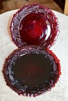 Avon Cape Cod 1876 - Ruby Red Dessert Plate - Set of 4 - 7 1/4""