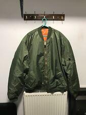 USA Type Original Green/orange Flyers Jacket Size 8XL New Windproof Super Warm