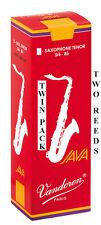 Twin Pack Vandoren Java Red Filed Tenor Saxophone Reeds 1.5 2 2.5 3 3.5 Free Del