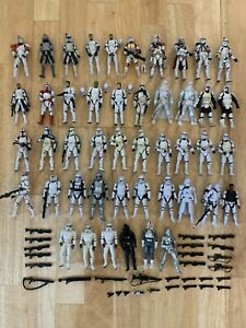 Star Wars Clone Trooper Stormtrooper Lot of 46 Wolffe Commando Boss Rex Cody