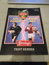More details for 1993 new zealand all blacks v british lions 3rd test match programme rugby vgc