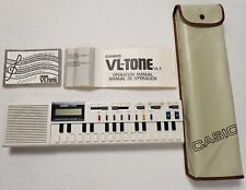 Vintage CASIO VL-1 VL-Tone Electronic Keyboard Instrument & Calculator w/Case