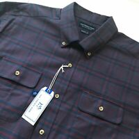 Nwt Southern Tide Classic Nightshade Checked Brushed Twill Stretch Sport Shirt