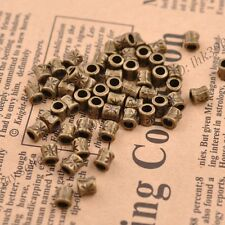 50/100Pcs Antique Tibetan Silver Tube Charm Spacer Beads Jewelry Findings