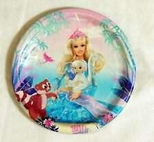 "BARBIE THE ISLAND PRINCESS  8- PAPER DESSERT PLATES 6 3/4"" DIAM  HALLMARK PARTY"