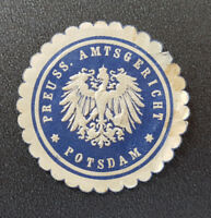 Siegelmarke Vignette PREUSS. AMTSGERICHT POTSDAM (8147-4)