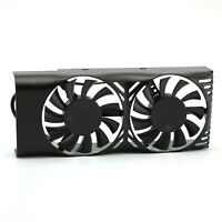 Dual Fans Cooling Fan Graphics Card Cooler for MSI GeForce GTX 1050 2GT LP Black