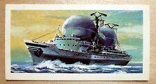 Brooke Bond RACE INTO SPACE card 30. Soviet space tracking ship Vladimir Komarov