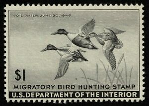 Scott#RW12 $1 Back of Book Federal Duck Mint NH OG Never Hinged Well Centered