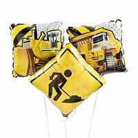 "Construction Zone 18"" Mylar Balloons (3 Pack)"