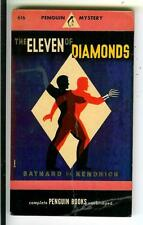 THE ELEVEN OF DIAMONDS by Kendrick, rare US Penguin #616 crime pulp vintage pb