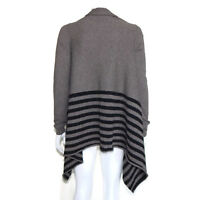 AUTUMN CASHMERE 100% Cashmere Brown Cascading Cardigan Sweater size Small / 3451