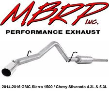 "MBRP 3"" Cat Back Exhaust Single Side 2014-2016 Chevy & GMC 4.3L & 5.3L Sierra"