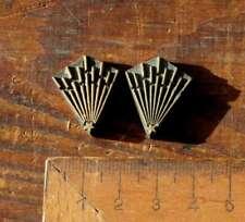 2x brass ornament bookbinding Art Nouveau gilding bookbinder embossing stamp