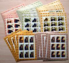 10 x Rumänien 2008 Mi.Nr. 6284-88 Kleinbogen ** MNH Bären Bears Panda 680,-- €