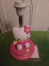 HELLO KITTY LAMP PINK KIDS GIRLS BEDROOM DESK DRESSER NIGHTSTAND TABLE