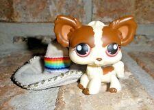 Littlest Pet Shop Brown & Cream CHIHUAHUA w sombrero hat 385 around the world
