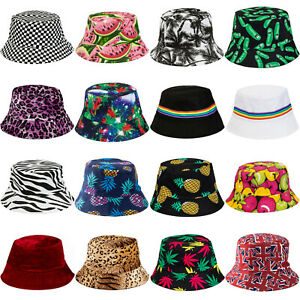 BUCKET HATS FESTIVAL BRIGHT COLOUR FISHERMAN HAT CAP BEANIE RAVE DANCE IBIZA SUN