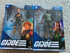 GI JOE CLASSIFIED SCARLET AND ROADBLOCK! NEW IN BOXES!