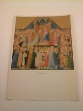 Vtg 5x7 Art PRINT Gothic & early Renaissance Painting - Coronation of the Virgin