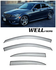 For 08-14 Mercedes Benz W204 C-Class WellVisors Side Window Visors Deflectors