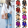 Summer Women Loose Bell Flare 3/4 Sleeve Blouse Casual V-neck T-Shirt Tops