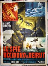 manifesto 4F film LE SPIE UCCIDONO A BEIRUT Richard Harrison Dominique Boschero