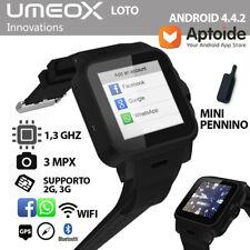 SMARTWATCH ANDROID OROLOGIO TELEFONO UMEOX LOTO SIM CARD 3G BLUETOOTH MICRO SD