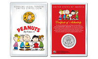 Peanuts Great Pumpkin Linus OFFICIAL JFK Half Dollar U.S. Coin in PREMIUM HOLDER