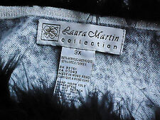 LAURA MARTIN COLLECTION Reptile12%LurexBlendBoaTrimPartyKnitSz3X