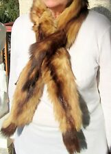 Col écharpe fourrure véritable