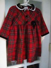 vintage Size 2T Girls FANCY DANCY HOLIDAY PLAID dress