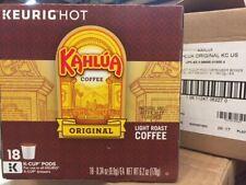 KAHLUA ORIGINAL LIGHT ROAST COFFEE KEURIG (18 K-CUP) BEST BY DATE 8/21/219 (NEW)